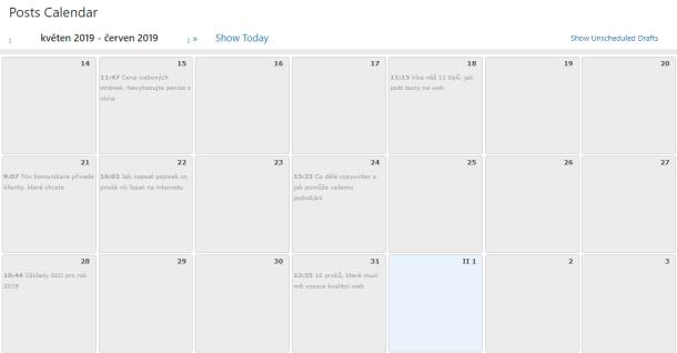 Efektivní plánování a správa obsahu ve WordPressu