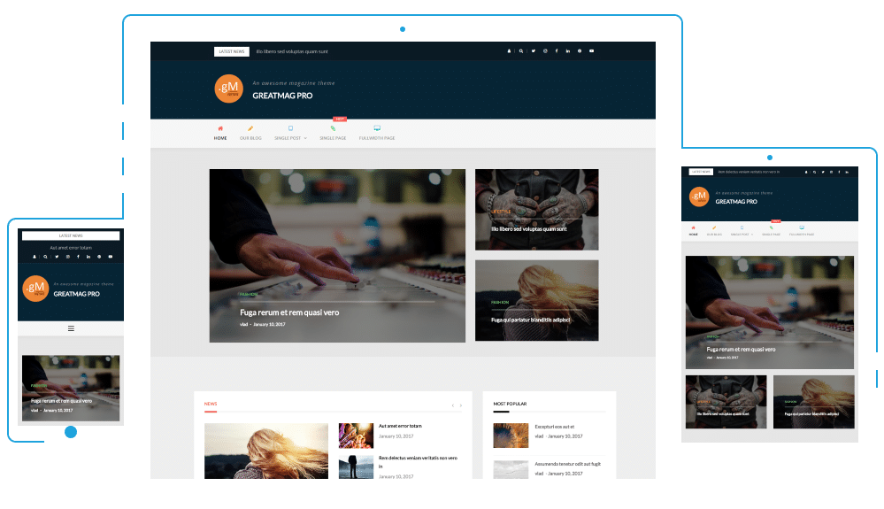 Athemes.com – Premium WordPress themes – GREATMAG PRO